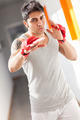 Boxer with red gloves in a gym - PhotoDune Item for Sale