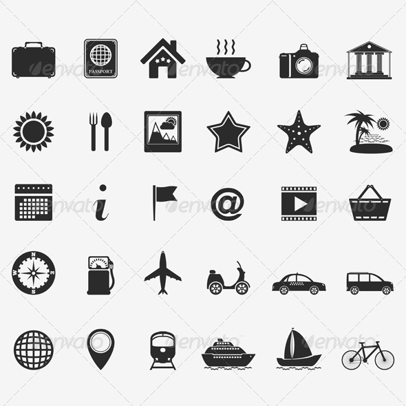 GraphicRiver Travel Icons 4716345