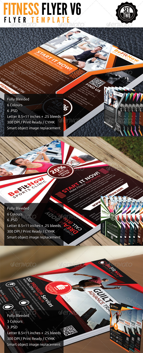 Fitness Flyer Bundle Set 2 - Flyers Print Templates