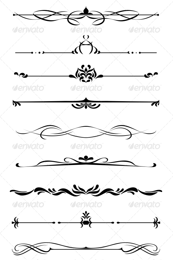 GraphicRiver Dividers and Borders Set 4716732