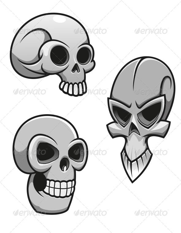 GraphicRiver Set of Skulls 4716761