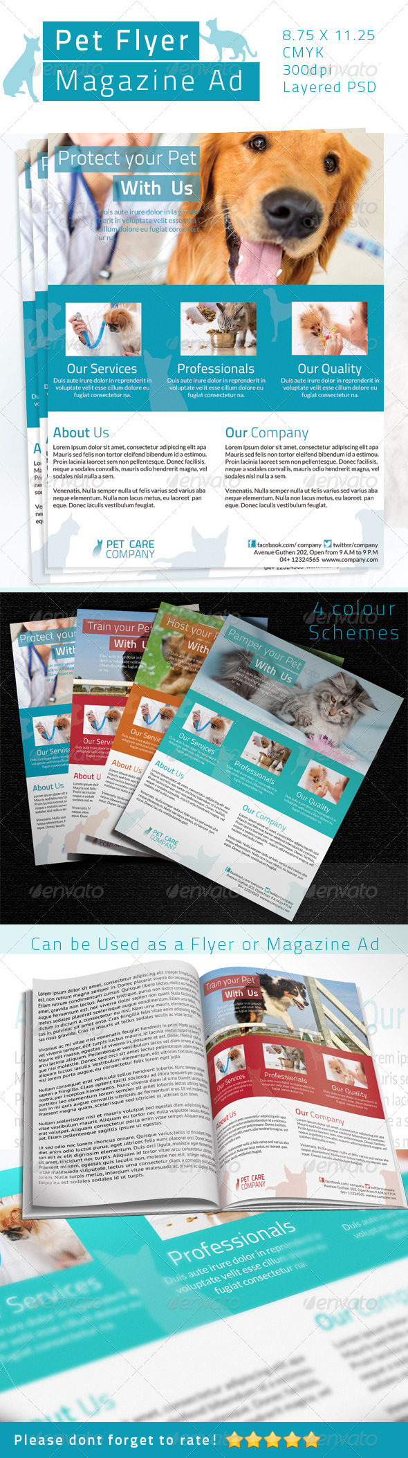 GraphicRiver Pet Care Flyer Magazine Ad 4717456