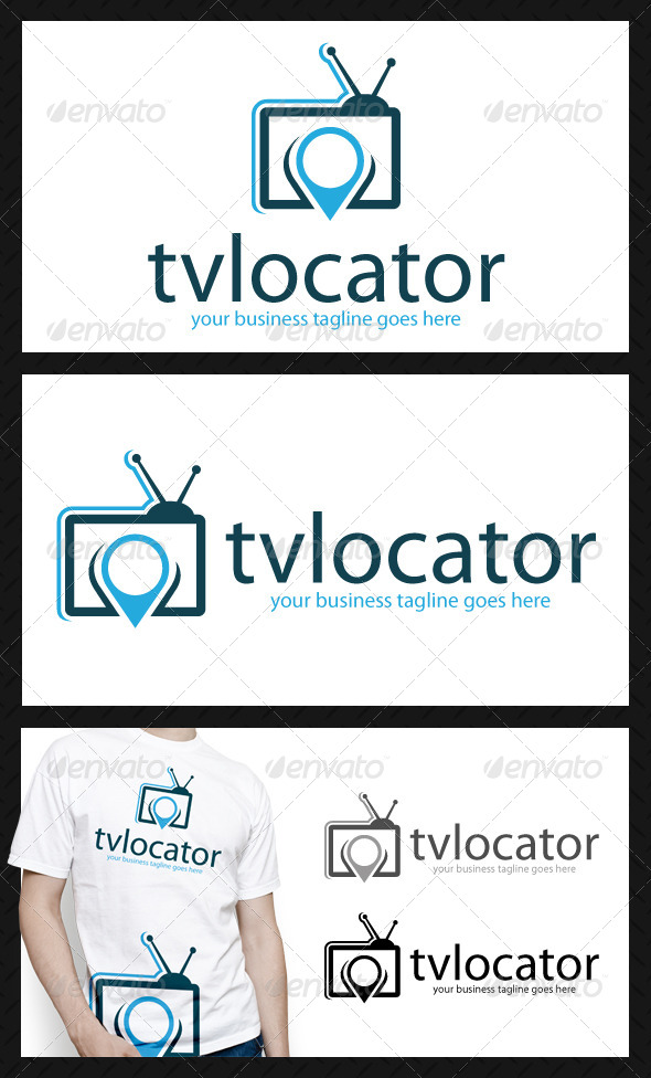 GraphicRiver Tv Media Locator Logo 4717476