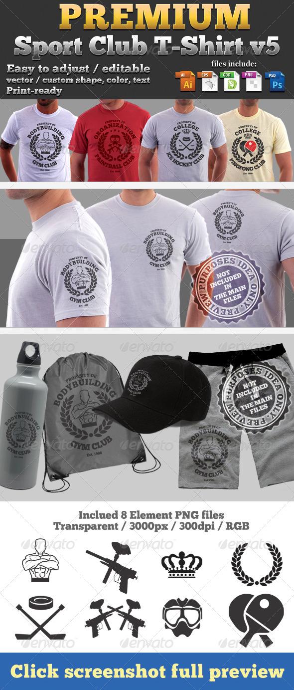 GraphicRiver Premium Sport Club T-Shirt V5 Template 4717683