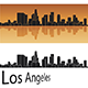 Los Angeles Skyline in Orange Background - GraphicRiver Item for Sale