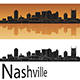 Nashville Skyline in Orange Background - GraphicRiver Item for Sale
