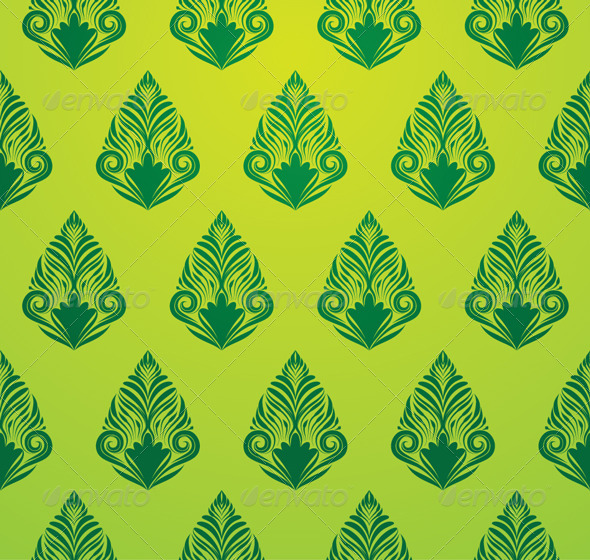 Green Pattern Wallpaper - Backgrounds Decorative