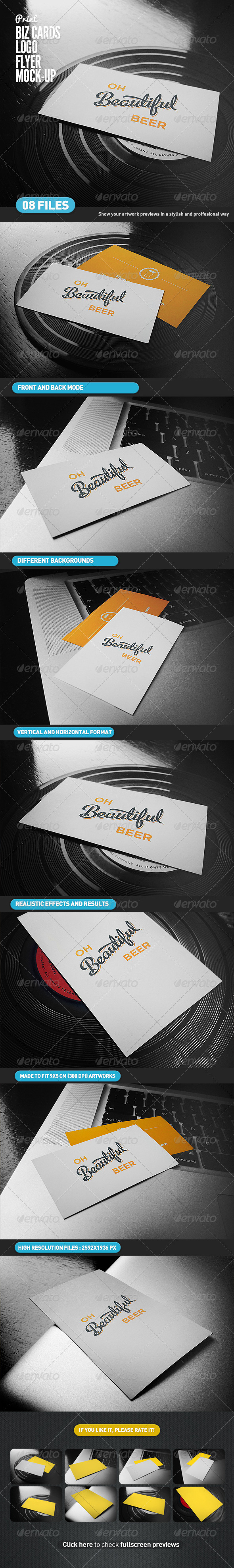 Business Cards | Flyer | Logo Mock-Up - Business Cards Print