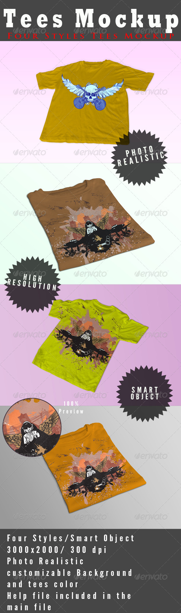 GraphicRiver Tees Mock-Ups 4639817