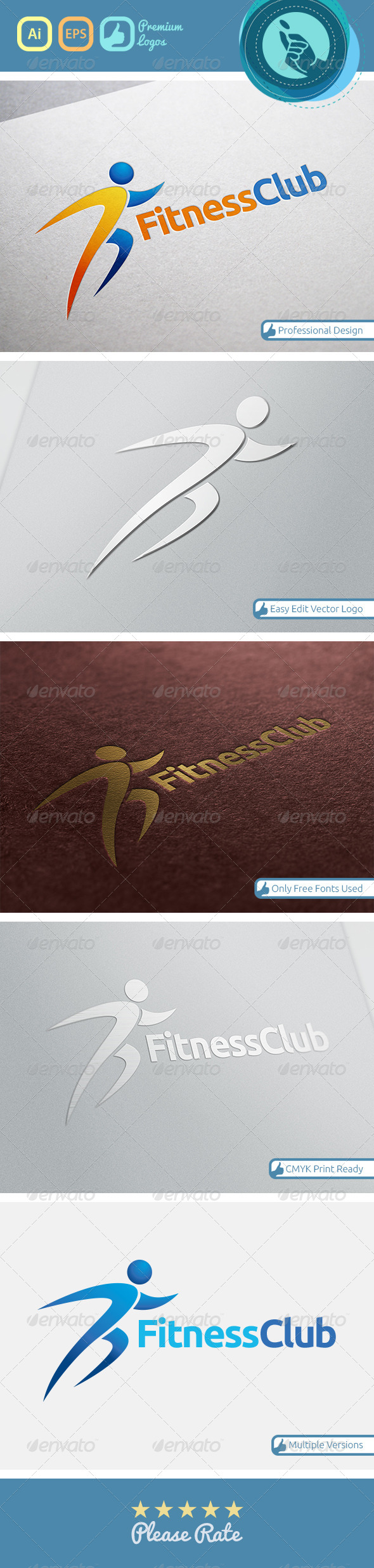 GraphicRiver Fitness Club Logo 4718116