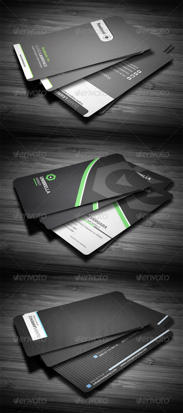 GraphicRiver 3 in 1 Business Card Bundle #3 4718173