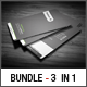 3 in 1 Business Card Bundle #3 - GraphicRiver Item for Sale