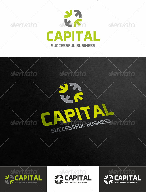 Capital - Successful Business Logo - Vector Abstract