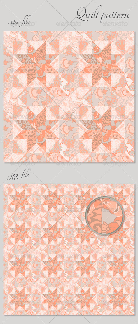 GraphicRiver Quilt Seamless Pattern Background Star Shape 4718199