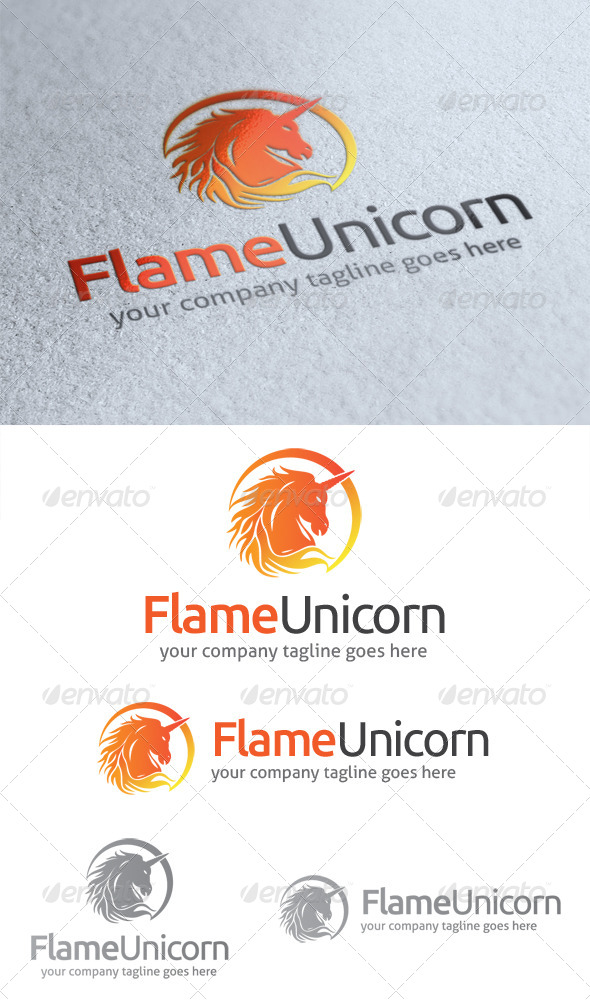 Flame Unicorn Logo