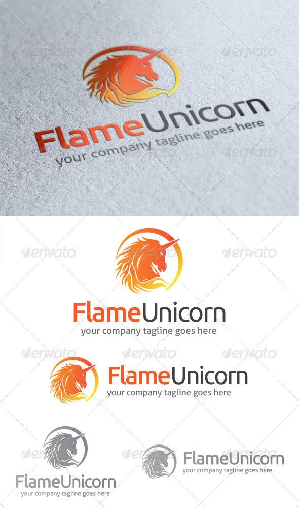 GraphicRiver Flame Unicorn Logo 4718268