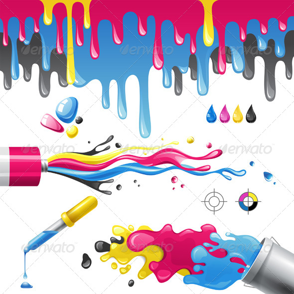 GraphicRiver CMYK Splashes 4718366