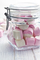 sweet marshmallows in glass jar - PhotoDune Item for Sale