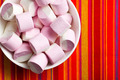 sweet marshmallows in ceramic bowl - PhotoDune Item for Sale