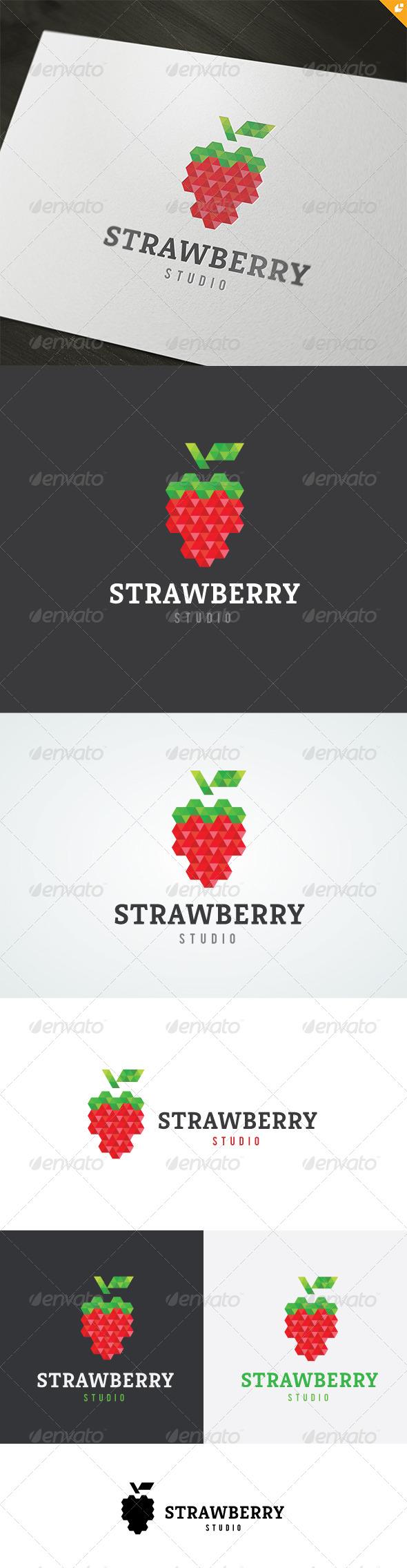 GraphicRiver Strawberry Studio Logo 4718499