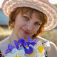 middle-aged woman with flowers - PhotoDune Item for Sale