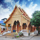 Thai Temple and Sky Colors - PhotoDune Item for Sale