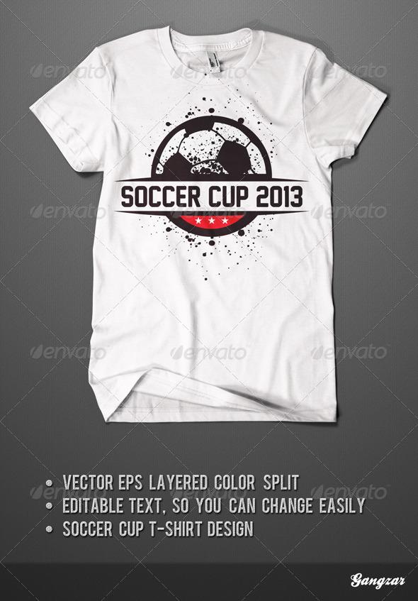 Soccer Cup T-Shirt Design