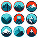 Vector Set with Abstract Logos - Mountains - GraphicRiver Item for Sale