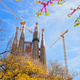 Sagrada Familia with blooming sakura in Barcelona, Spain - PhotoDune Item for Sale