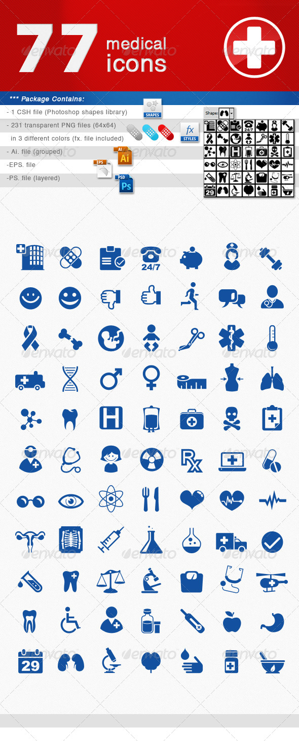 GraphicRiver Medical Icons Set 4657372