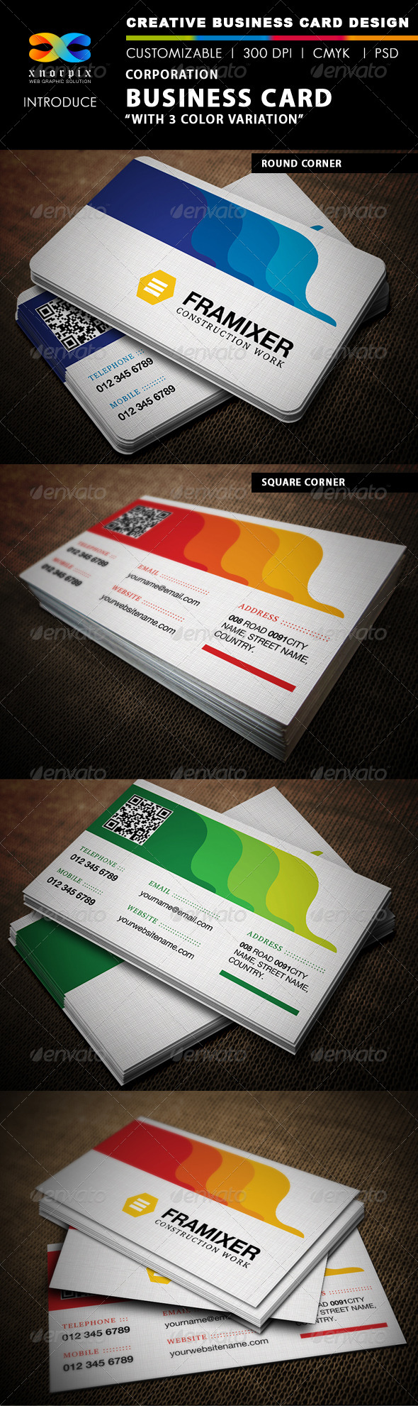 GraphicRiver Corporate Business Card 4719401