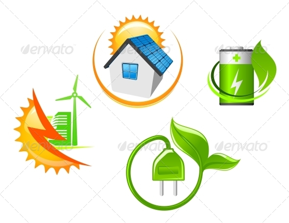 Set of Ecological Icons - Miscellaneous Vectors
