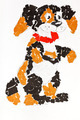 child's applique - pied dog - PhotoDune Item for Sale
