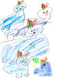 child's drawing - playing seals - PhotoDune Item for Sale