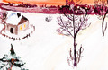 child's paiting - winter country landscape - PhotoDune Item for Sale