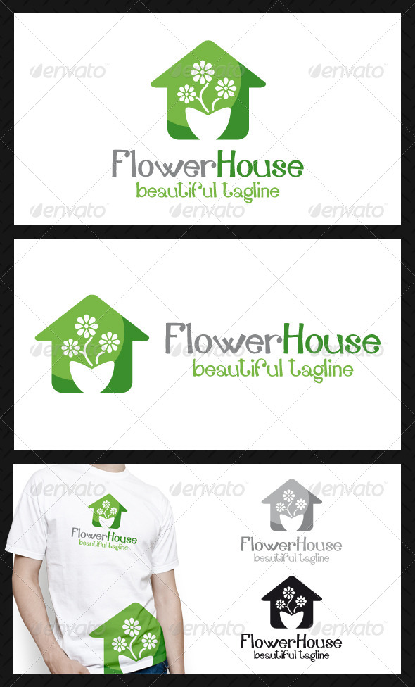 GraphicRiver Flower House Logo Template 4719541