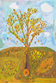 child's paiting - falling leaves from autumn tree - PhotoDune Item for Sale