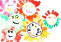 child's drawing - many happy suns - PhotoDune Item for Sale