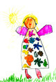 child's drawing - happy girl - PhotoDune Item for Sale