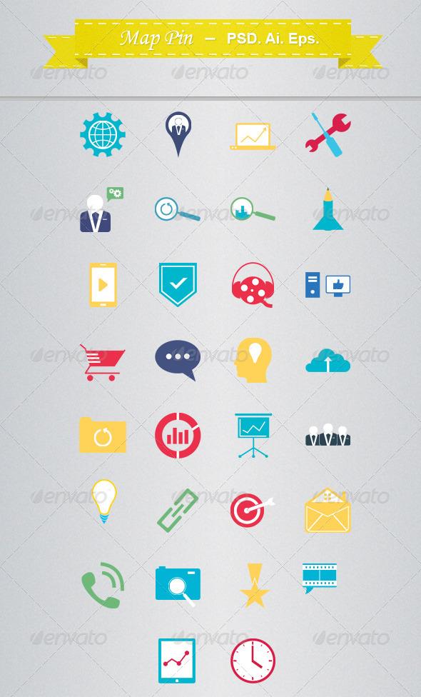 GraphicRiver Seo Icons 4518192