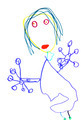 child's drawing - terrible woman - PhotoDune Item for Sale
