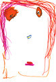 child's drawing - face of woman with red hair - PhotoDune Item for Sale