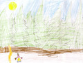 child's drawing - man and woods - PhotoDune Item for Sale