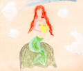 child's paiting - siren on the rock - PhotoDune Item for Sale