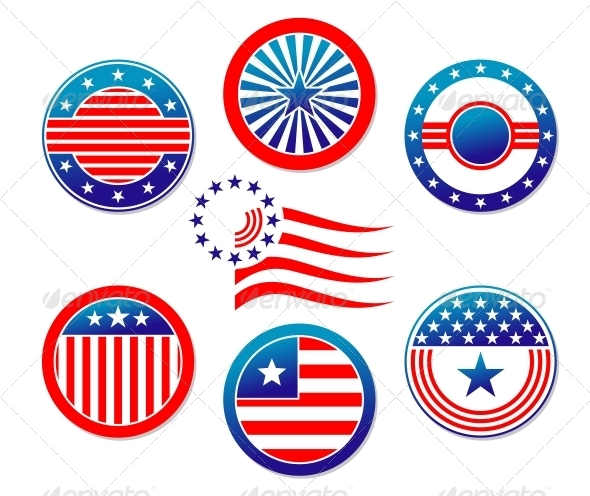 GraphicRiver American National Banners and Symbols 4719566