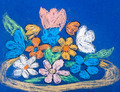 child's paiting - flowers in bowl - PhotoDune Item for Sale