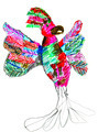 child's drawing - pied parrot - PhotoDune Item for Sale