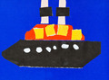 child's applique - ship in blue sea - PhotoDune Item for Sale
