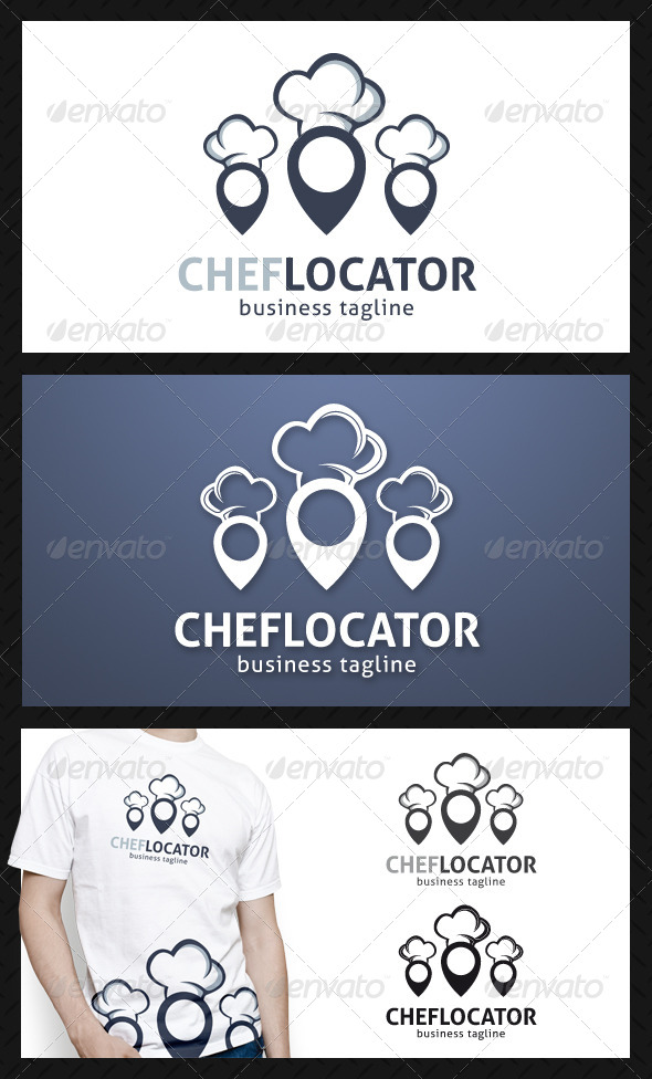 GraphicRiver Chef Locator Logo Template 4719576