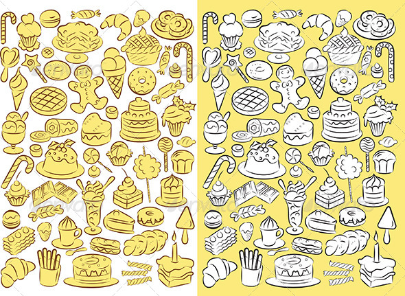 GraphicRiver Sweets Vector 4719794